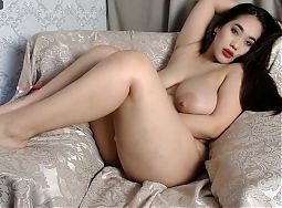 Sexy Asian girl shows her juicy forms